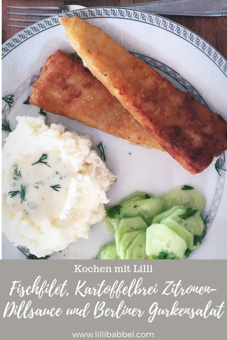 Fischfilet, Kartoffelbrei Zitronen-Dillsauce und Berliner Gurkensalat  .png
