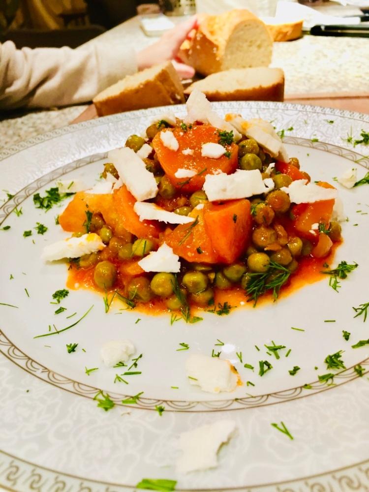 Griechische Rezepte: Arakas, Erbsen vegetarsich