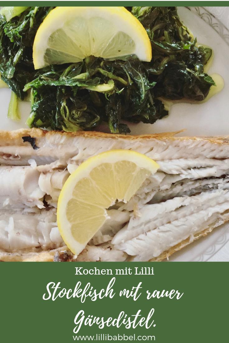 Stockfisch mit rauer Gänsedistel 1.